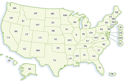 Map of Magnet and Charter Schools in the United States